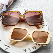 Big hinge, T-shape, sunglasses, inlaid diamond, fashion, versatile, glasses