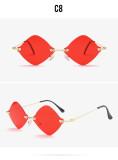 Fashion, frameless, trimming, sunglasses, diamond, glasses
