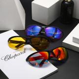 Polarized light, sunglasses, ultra light, riding, personality, glasses, half frame, sunglasses