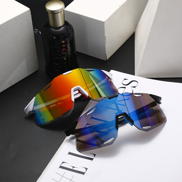 Cycling, glasses, frameless, ultra light, sunglasses, hollow out, colorful, bicycle, sunglasses