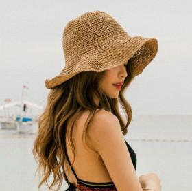 Foldable, straw hat, sunscreen, sun hat, beach hat