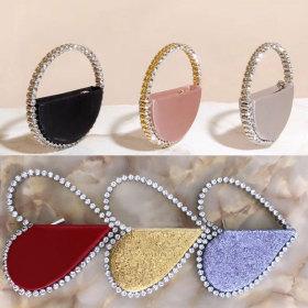 Diamond, heart, hand bag, diamond, dinner bag
