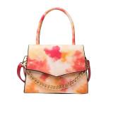 Gradient color, rainbow bag, leisure, texture, small square bag, fashion, portable, messenger bag