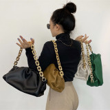 Thick chain, fold, cloud bag, portable, one shoulder, bag