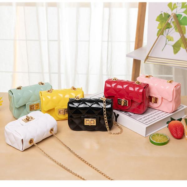 Mini, chain, jelly bag, Lingge, lipstick bag, fashion, change bag