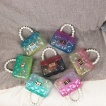 Pearl, mini, chain, one shoulder, Messenger, handbag
