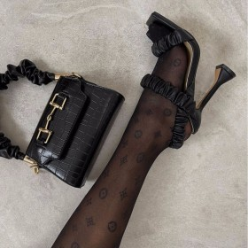 Folds, glasses, heels, sandals