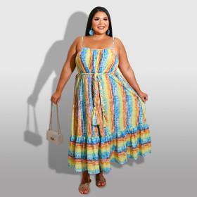 Rainbow, stripe, sling, dress
