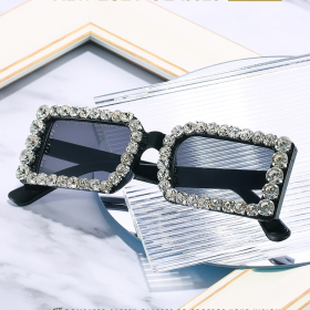 Box, sunglasses, diamond, square, jelly, diamond, sunglasses