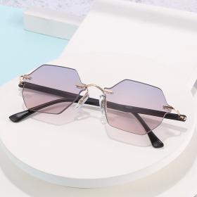 Frameless, sunglasses, trimming