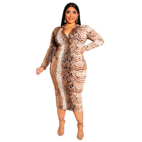 Printed, tight, buttocks, zipper, front and back, large, dress