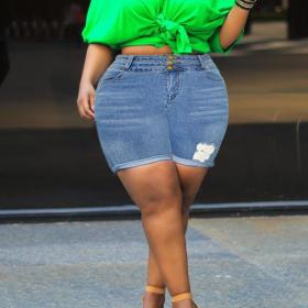 High waist, hips, holes, jeans, pants