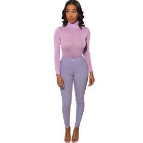 Solid color, high elastic, slim, leggings, trousers