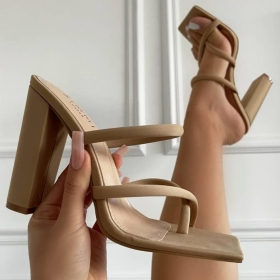 Hollow out, high heels