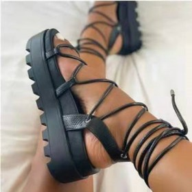 Thick bottom, light weight, foot ring, bandage, sandals