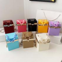 Acrylic, chain, handbag, one shoulder, messenger bag