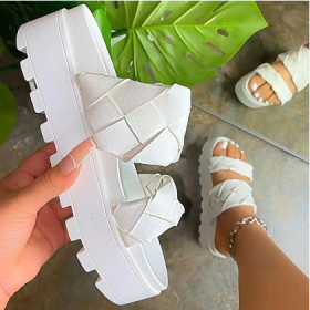 Lightweight, woven, retro, slippers, sandals