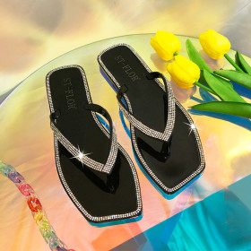 Color diamond, flat bottom, slipper, jelly, flip flop