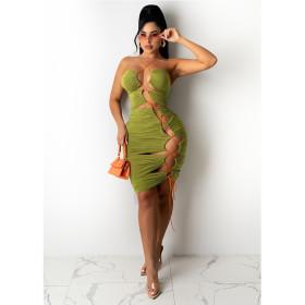 Beach, dress, sleeveless, skirt, lace up, dress