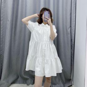 Lapel, button, cotton, dress