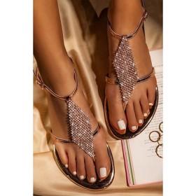 Flat bottom, diamond, round head, clip toe, T-shaped, buckle, sandals