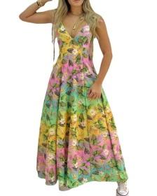 Sling, print, dress