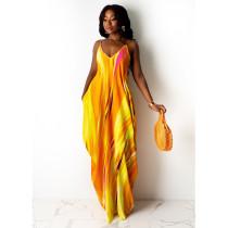 Tie dye, print, loose, dress