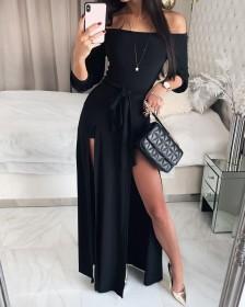 Shoulder, lace up, dress