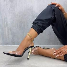 Super high, heel tip, PVC, electroplating heel, high heel, sandal