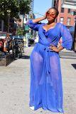 Transparent, mesh, large, Jumpsuit