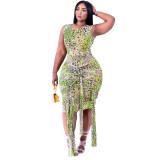 Fashion, bandage, print, dress