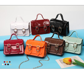 Mini, Cambridge bag, candy color, one shoulder messenger bag, PVC, handbag