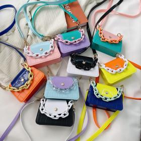 Jelly bag, one shoulder bag, Messenger Bag, mini square bag