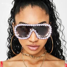 Diamond sunglasses, large frame, sunglasses