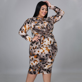 Leopard print, large dress