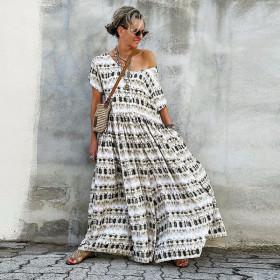 Dress, loose, medium length skirt