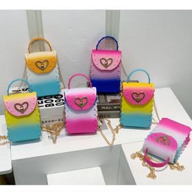 Mini Handbag, gradient, color jelly bag, PVC