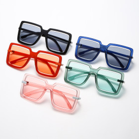 Big box, square, sunglasses, hollow out, candy color, sunglasses