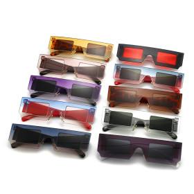 One piece sunglasses, box, dazzle color, sunglasses