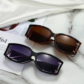 Side lens, small frame, sunglasses, punk style, glasses