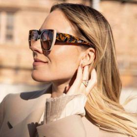 Trimming, UV400 sunglasses, two color, sunglasses