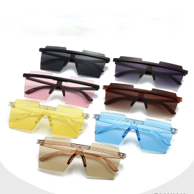 Rimless, one-piece sunglasses, sunglasses