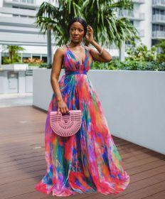 Long skirt, digital print, large skirt, dress