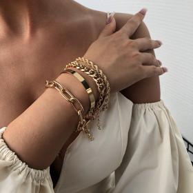 Alloy, thick chain, multilayer bracelet, bracelet, bracelet