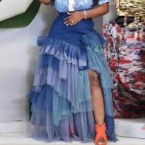 Multilayer, mesh, irregular, skirt