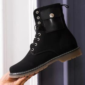 Thick soled, short tube, Martin boots, large, lace up women's Boots