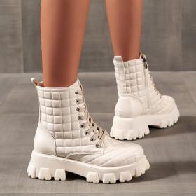 Muffin, thick bottom, side zipper, Martin boots, short boots