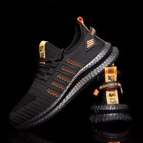Designer Mesh Mens Shoes Breathable Men Causal Shoes Lightweight Tennis Plus Size Sneaker Male Black Trainers Vulcanize Shoes