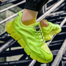 2021 Original Mens Shoes Sneakers Breathable Causal Shoes Men Light Green Trainers Autumn Travel Walking Shoes Zapatos De Hombre