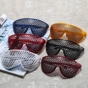 Hollowed out mirror, street shot glasses, sunglasses